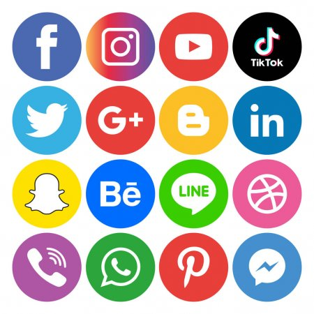 social media icons. Protect home and family by assessing social media posts